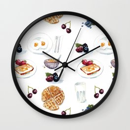 3 meals a day, all breakfast Wall Clock
