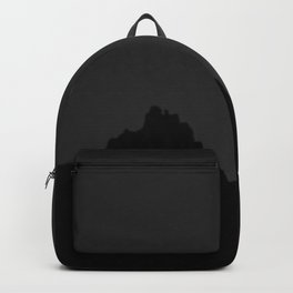 Mountain Range with Crescent Moon Backpack