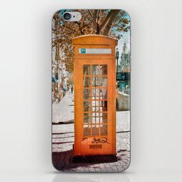 Phone booth iPhone Skin