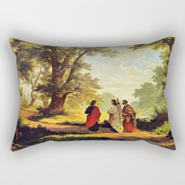 Road To Emmaus Rectangular Pillow