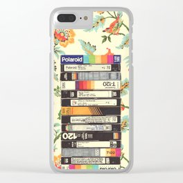 VHS & Entry Hall Wallpaper Clear iPhone Case