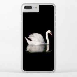 Mute Swan Cygnus olor at lake Clear iPhone Case