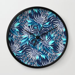 Hidden Creatures - Grey / Teal Wall Clock