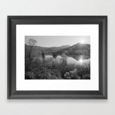 Sunset at Lake Scutari Framed Art Print