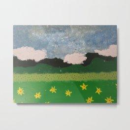 Cloudy Landscape  Metal Print