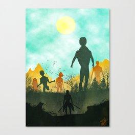Attack on Titan Silhouette Canvas Print