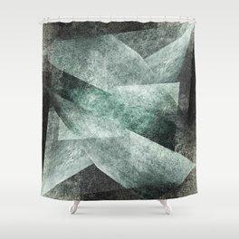 green gray shades Shower Curtain