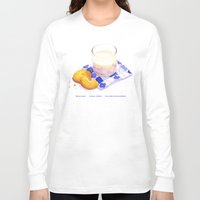 cookies Long Sleeve T-shirts featuring Milk & Cookies by Nancy L. Hoffmann