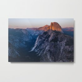 Sunkissed Half Dome at Sunset Metal Print