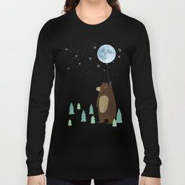 the moon balloon Long Sleeve T-shirt