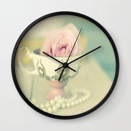 John Aynsley teacup with rose  Wall Clock