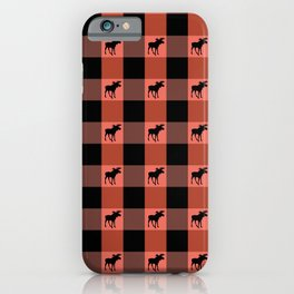MOOSE CHECK iPhone Case