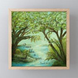 Peace Like a River Framed Mini Art Print