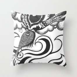 Two Elements Throw Pillow