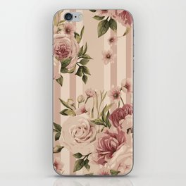 Flowers and Stripes Two iPhone Skin