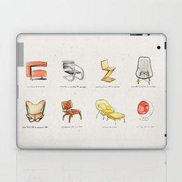 Post Modern Watercolor Chairs Laptop & iPad Skin
