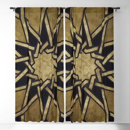 Islamic Pattern - Islamic Ornament - Arabian Pattern Blackout Curtain