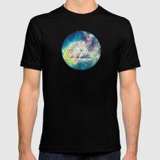 Awsome collosal deep space triangle art sign Mens Fitted Tee Black MEDIUM