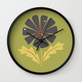 A Flower with Dew Drops Wall Clock
