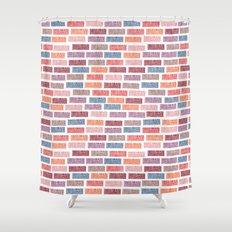 Brick Block Shower Curtain
