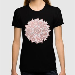 Rose Gold Mandalas on Marble T-shirt