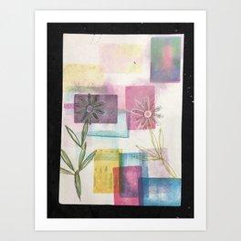 Happy Flowers! Art Print