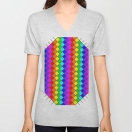 Geo (Rainbow) Unisex V-Neck