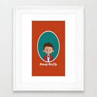 mcfly Framed Art Prints featuring Marty McFly by Juliana Motzko