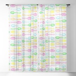 Watercolor Spoons! Sheer Curtain