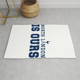"""Tottenham hotspurs tshirt, The Spurs to Dare is to Do """"Audere est Facere"""" champions league final mad Rug"""