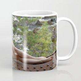 6893-LP Industrial Odalisque Fine Art Nude Woman by the Dead River Coffee Mug