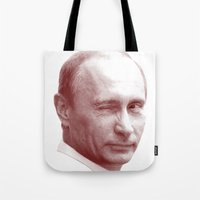 putin Tote Bags featuring Putin by MartiniWithATwist
