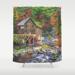 Glade Creek Grist Mill, WV Shower Curtain
