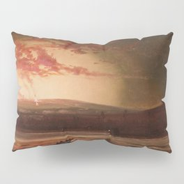 Eruption of Mauna Loa, Hilo Bay, Hawaii landscape painting  by Charles Furneaux Pillow Sham