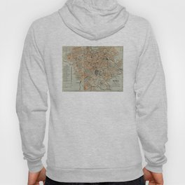 Vintage Map of Rome Italy (1911) Hoody