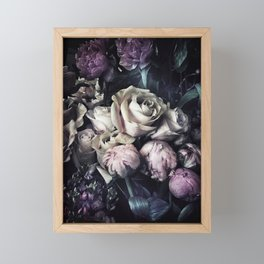 Roses and peonies vintage style Framed Mini Art Print