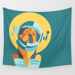 One Giant Leap for All Muttkind Wall Tapestry