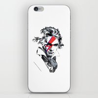 beethoven iPhone & iPod Skins featuring Bowie Beethoven by Komrod