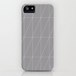 Grey Triangles by Friztin iPhone Case