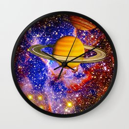 Stars and Planets Wall Clock
