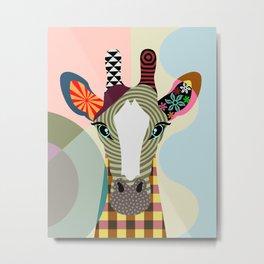 Stand Tall Giraffe Metal Print
