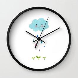 Rain Cloud Wall Clock