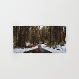 Tunnel Log Road in Sequoia Hand & Bath Towel