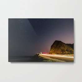 Night Landscape of a road next to a beach at Point Magu, CA. Metal Print