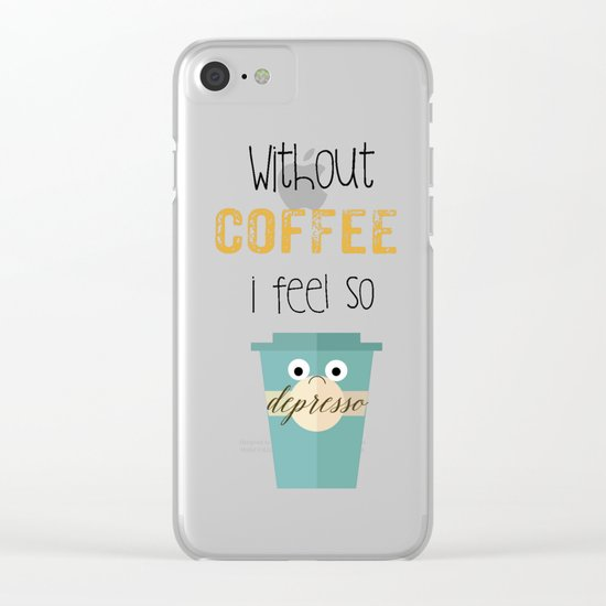 DEPRESSO Clear iPhone Case