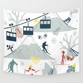 SKI LIFTS Wall Tapestry
