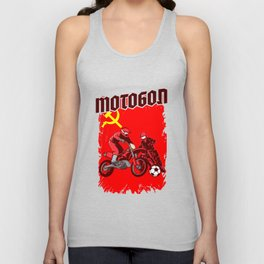 Motoball CCCP Soviet Dirt Bike Gifts For Bikers Unisex Tank Top