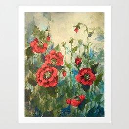 SK's Field of Poppies Art Print