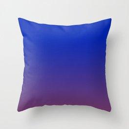 LAPIS BLUE & AMETHYST PURPLE color Ombre pattern  Throw Pillow