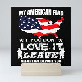 Army Patriot Honor American Gift Mini Art Print